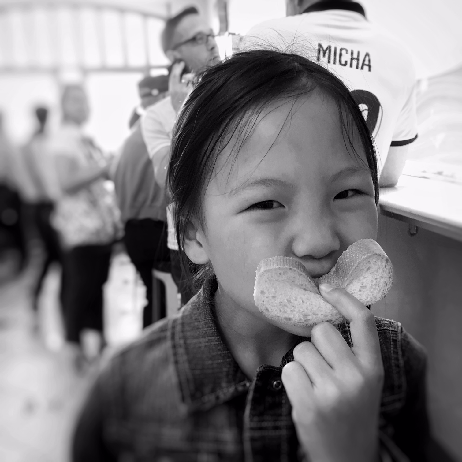 Keira with a bread smile