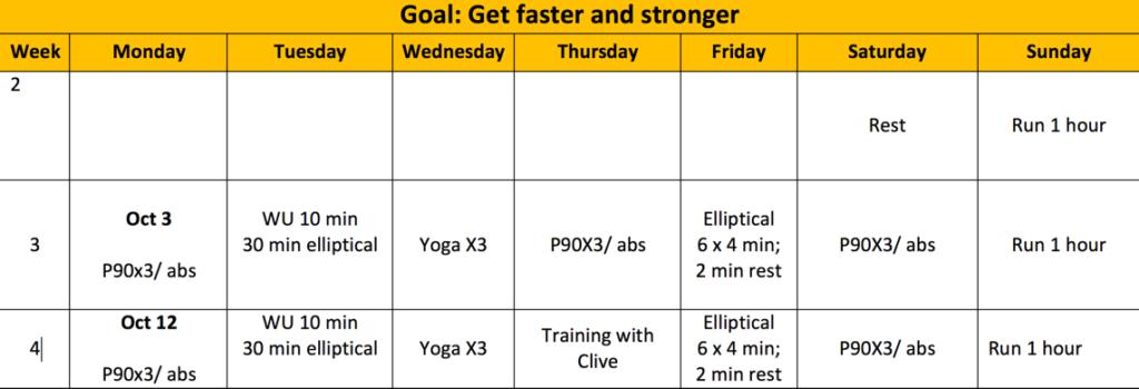 new-training-schedule